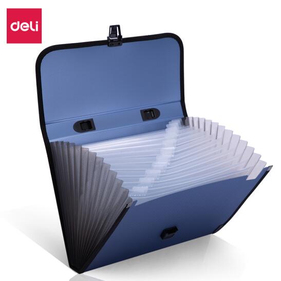 得力(deli)5556软手把式风琴包12格A4软手柄手提风琴包资料包文件包 单只装 颜色随机